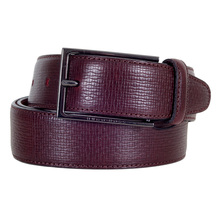 Mens Cabel Belt in Dark Mahogany Red by Hugo Boss BOSS5029