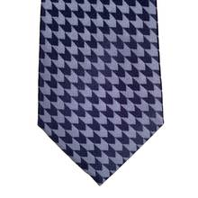 Jacquard Arrow Patterned Blue Grey Woven Silk Tie by Giorgio Armani GAM5103
