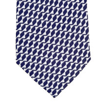 Patterned Silk Tie in Navy Blue by Giorgio Armani GAM4625