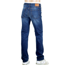 Maine 1 Blue Stretch Denim Jeans for Men with Fading by Hugo Boss Black BOSS4572