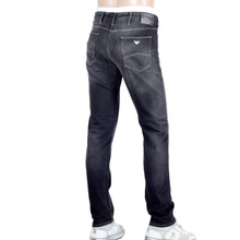 Low Waist Tight Leg Slim Fit J06 Washed Black Denim Jeans for Men by Armani Jeans AJM5119