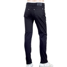 Low Waist Slim Fit Black Stretch Denim Jeans for Men by Versus Versace with Silver Lion Head Studs VERS5454