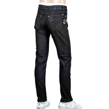 Low Waist Slim Fit Versus Stretch Black Denim Jeans for Men with Removable Lion Head Safety Pins by Versace VERS5455
