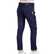 Low Waist Slim Fit Versus Dark Blue Denim Jeans with Removable Lion Head Safety Pins by Versace VERSn6117