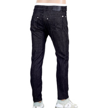 Versace Slim Fit Black Low Waist Jeans with Lion Head Rivets and Key Ring VERSn6118