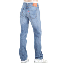Levis 501 Mens Iron Mount Jeans in Washed Light Blue with Original Fit LEVI6250