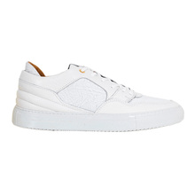 Laced Front White Android Homme Sneakers for Men with Gold Branded Eyelets ANDR6244