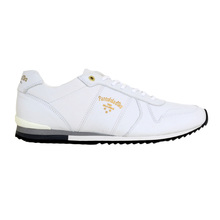 Pantofola d'Oro Teramo Bright White Leather Mens Uni Low Trainers 3510056 with White Lace PANT6348