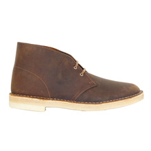 Clarks Originals Premium Beeswax Leather 26106562 Upper and Crepe Sole Desert Boots for Men CLAR6367