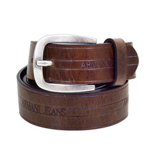 Armani Jeans Mens Belt In Brown Leather AJM6034