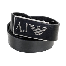 Armani Jeans Mens Belt With Vintage Buckle AJM6482