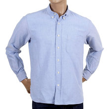 Regular Fit Oxford Shirt In Blue By SugarCane CANE4472