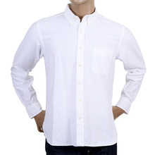 Button Down Oxford Shirt In Off White By SugarCane CANE4471