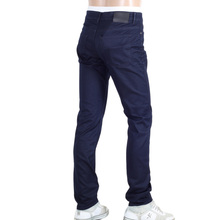 Hugo Boss Washed Dark Navy Slim Fit Cotton Stretch Delaware Jeans with Regular Waist and Zip Fly BOSS5802