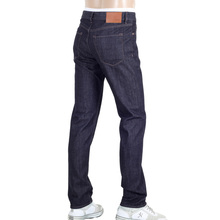 Hugo Boss Black Maine3 Regular Fit Dark Navy Blue Denim Jeans with Brass Waistband Button and Rivets BOSS5801