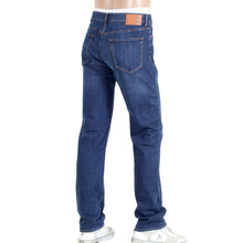 Hugo Boss Black Regular Waist Straight Leg Maine2 Washed Blue Denim Regular Fit Jeans with Zip Fly BOSS5258
