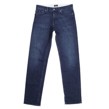 Hugo Boss Black Maine 2 Washed Dark Blue Stretch Denim Jeans with Regular Waist Straight Leg BOSS5260