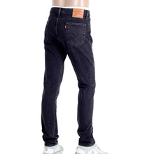 Mens 510 Skinny Fit Washed Black Stretch Jeans with 5 Pocket Design and Zip Fly LEVI6210