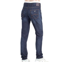 Armani Slim Fit Dark Rinsed Low Waist Tight Leg Stretch Blue Denim Jeans for Men AJM5977