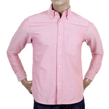 Sugar Cane Made In USA Red Oxford Shirt CANE4448