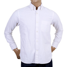 Sugar Cane Made In USA White Oxford Shirt In White CANE4446