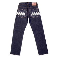 RMC Jeans Exclusive Vintage Indigo Raw Selvedge Denim Jeans with Silver 4A Star Embroidery REDM2911