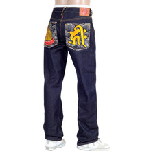 RMC Raw Selvedge Jeans with Exclusive Amida Nyorai YEAR OF THE DOG Embroidery REDM3090