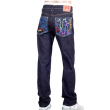 RMC Super Exclusive Embroidered KING KONG Vintage Cut Dark Indigo Red-Green Selvedge Raw Denim Jeans REDM3253
