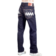 RMC Jeans Like Black Raw Selvedge Denim Jeans with Super Exclusive Silver Embroidery REDM3785