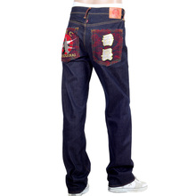RMC Jeans Dark Indigo Genuine Super Exclusive SENSOUKIRAI Embroidered Vintage Raw Selvedge Jeans REDM9069