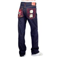 RMC Jeans Dark Indigo Genuine Super Exclusive SENSOUKIRAI Embroidered Vintage Raw Selvedge Jeans REDM9069