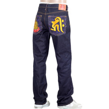 RMC Jeans Dark Indigo Genuine Amida Nyorai YEAR OF THE PIG Embroidered Vintage Raw Selvedge Jeans REDM9074