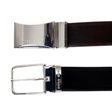 Boss Black Garlef 50322498 Fully Reversible Leather Belt with Two Interchangeable Buckles BOSS6597