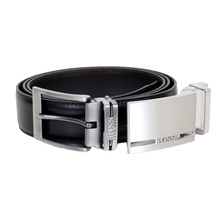 Boss Black Galliz 50286255 Fully Reversible Leather Belt with Two Interchangeable Buckles BOSS6598