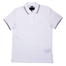 Armani Jeans Modern Fit White Short Sleeve Polo Shirt for Men with White Embroidered Logo AJM6016