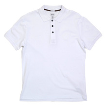 Mens Short Sleeve Three Button Regular Fit Cotton Polo Shirt in White colour by Armani Collezioni GAM5960