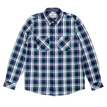 Carhartt Reynolds Check Regular Fit Heavier Cotton Long Sleeve Labor Blue Shirt with 2 Chest Pockets CARH5623
