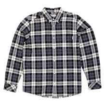 Carhartt Long Sleeve Regular Fit Cotton Heather Grey Baker Check Shirt with Single Pocket and Pearlised Buttons CARH5625