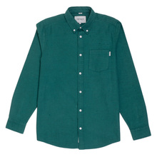 Carhartt Cotton Dalton Regular Fit Parsley Long Sleeve Shirt for Men with Soft Button Down Collar CARH5620