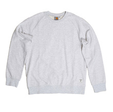 Carhartt Regular Fit Cotton Mix Holbrook LT Crew Neck Sweatshirt for Men in Ash Heather CARH7257