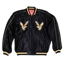 Tailor Toyo Fully Reversible Black and Pink Regular Fit Suka Jacket for Men with Eagle Embroidery TOYO7526
