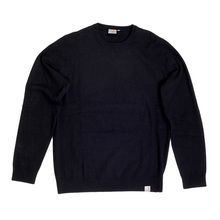 Carhartt Regular Fit Crew Neck Playoff Wool Mix Knitwear for Men with Woven Signature Logo Patch CARH6835
