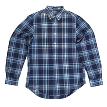 Gant Regular Fit Long Sleeve Indigo Madras Check Casual Shirt for Men with Button Down Collar GANT6202