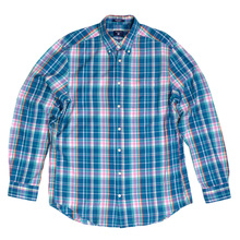 Gant Birdie Madras Check Regular Fit Cotton Long Sleeve Button Down Collar Casual Shirt for Men GANT6203