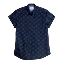 Navy Short Sleeve Stretch Cotton Shirt By Scotch & Soda SCOT5915
