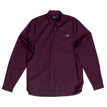 Fred Perry Mahogany Polka Dot Shirt FPRY6762