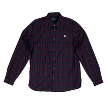 Fred Perry Mahogany Winter Tartan Shirt FPRY6760