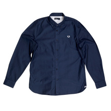 Fred Perry Navy Long Sleeve Shirt FPRY7342