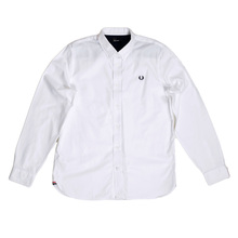 Fred Perry White Long Sleeve Shirt FPRY7343