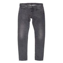 Armani J06 Slim Fit Stretch Cotton Low Waist Slim Leg Zip Fly Grey Jeans for Men AJM6400